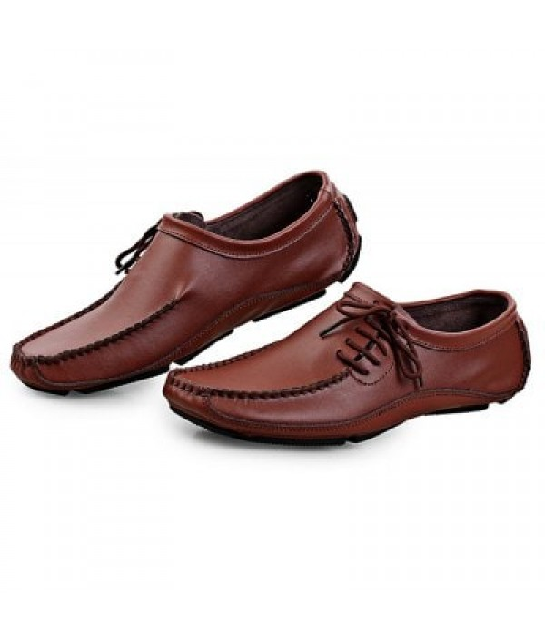 Casual British Style Leather Shoes for M...