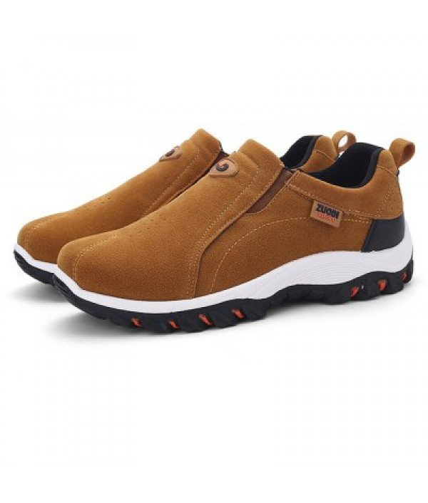Male Breathable Soft Slip On Flat Boat C...