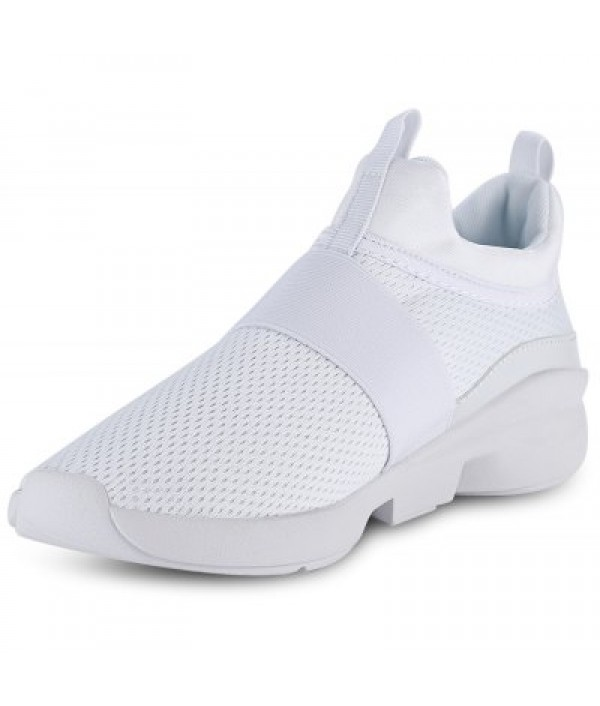 Casual Pointed Toe Mesh Spliced Slip-on ...