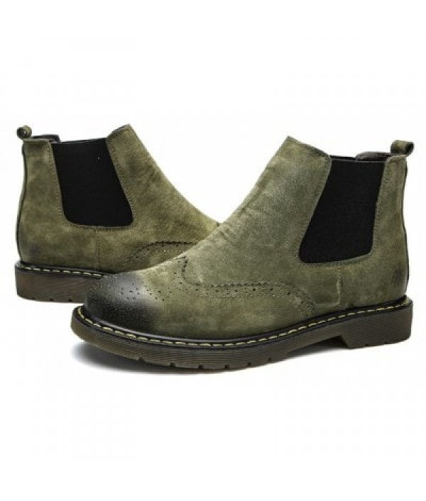 Male Stylish Chelsea Embossed Casual Boo...